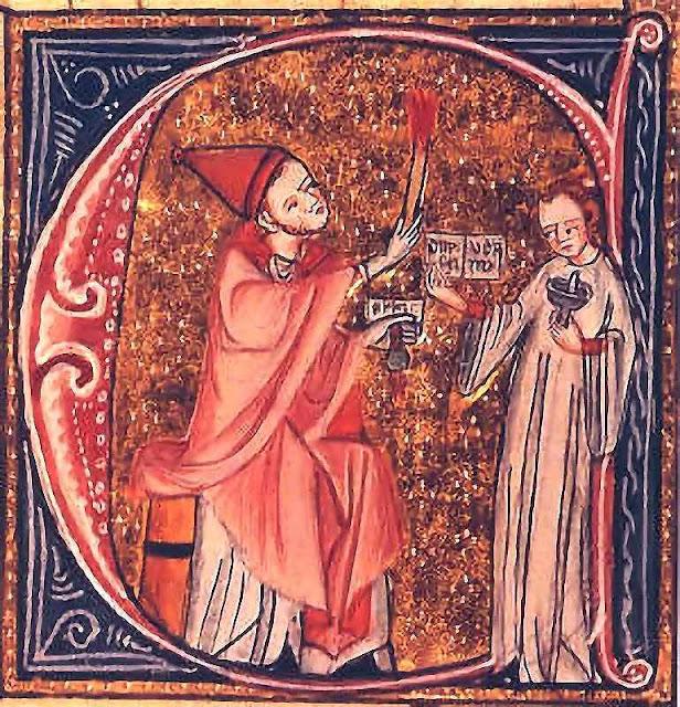São Gregório VII excomunga o imperador Enrique IV que perseguia a Igreja.