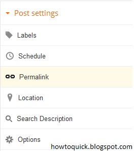 How To Change Permalink, Edit your Blogger Post URL