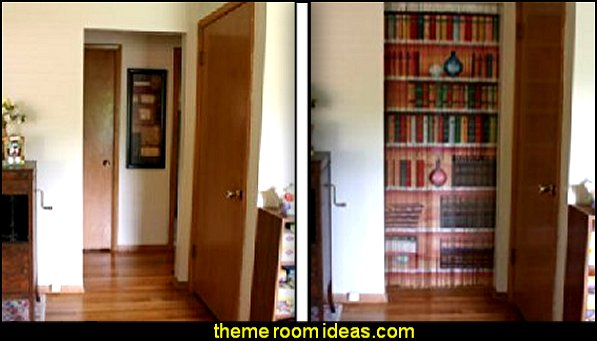 Bookcase Beaded Curtain  wall decorations - wall art prints - wall stencils - wall murals - wall decals - wall decor - Lighted Letters - wall letters - Storage wall shelves - Marquee Lights - wall lights - picture frames - mirrors - decorative accents  ceramic wall decor - cardboard wall mounts - Stuffed Animal Trophy Head wall decorations - beaded curtains