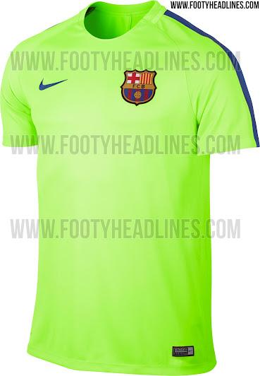 Camiseta de entrenamiento verde claro para el FC Barcelona en 2017 ec48b496ae54f
