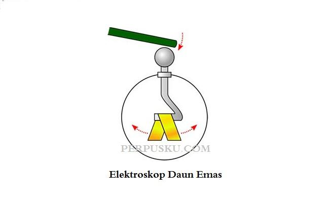 Elektroskop daun emas