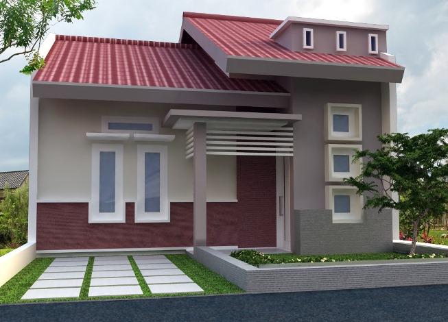 Model Rumah Minimalis 1 Lantai Pintu Samping