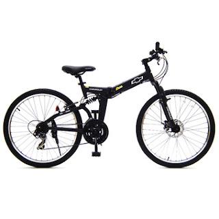 Chevrolet Folding bike จักรยานเสือภูเขา พับได้ รุ่น MTB 2621 (สีดำด้าน)