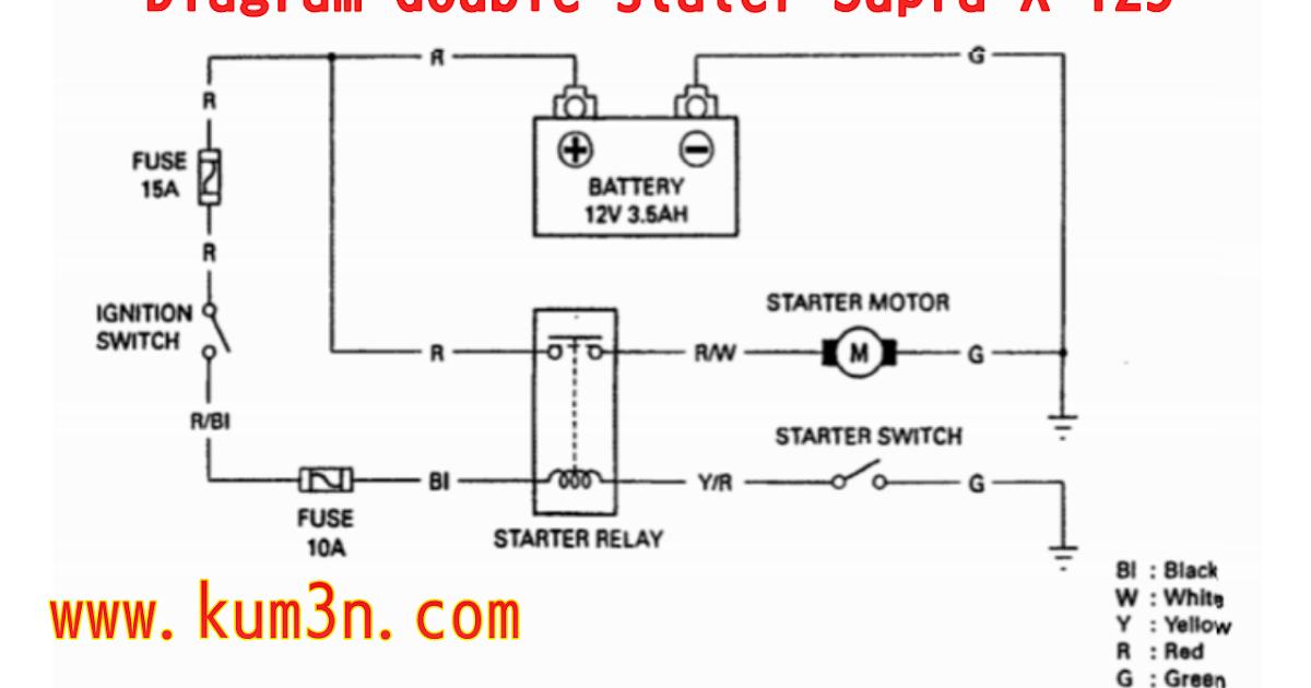 Diagram Jalur Sistem Double Stater Supra X 125