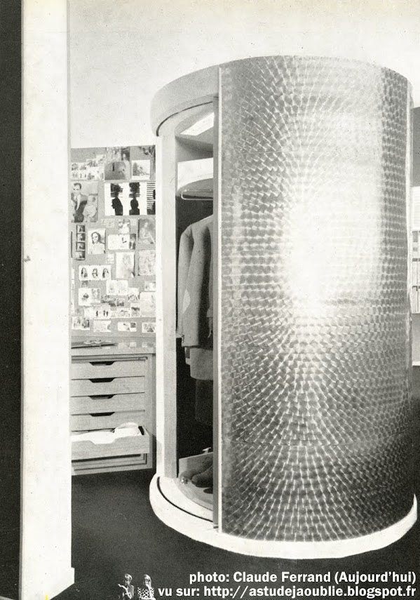 astudejaoublie Ville d'Avray - La Maison de Demain - Lionel Mirabaud  Architecte: Lionel Mirabaud  Polychromie: Noël Emile-Laurent  Sculpture: André Bloc  Construction: 1955