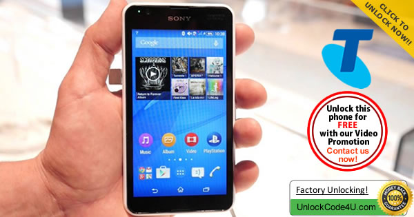 Factory Unlock Code Sony Xperia E4g from Telstra