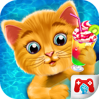Baby Kitty Swimming Pool Party