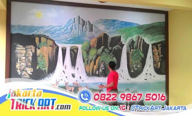 Gambar Lukisan Alam, Karya Lukisan Dinding Tuk Mempercantik Dinding Ruangan Anda