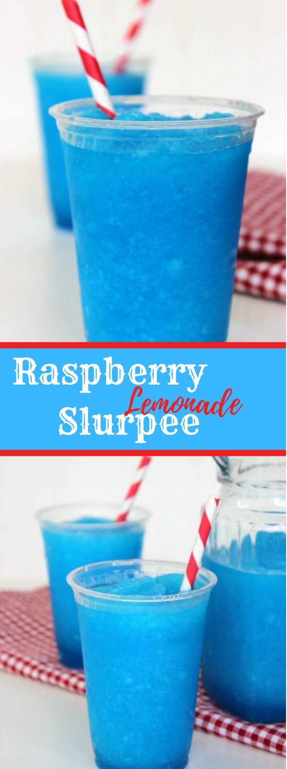 RASPBERRY LEMONADE SLURPEE RECIPE #Summer #FreshDrink