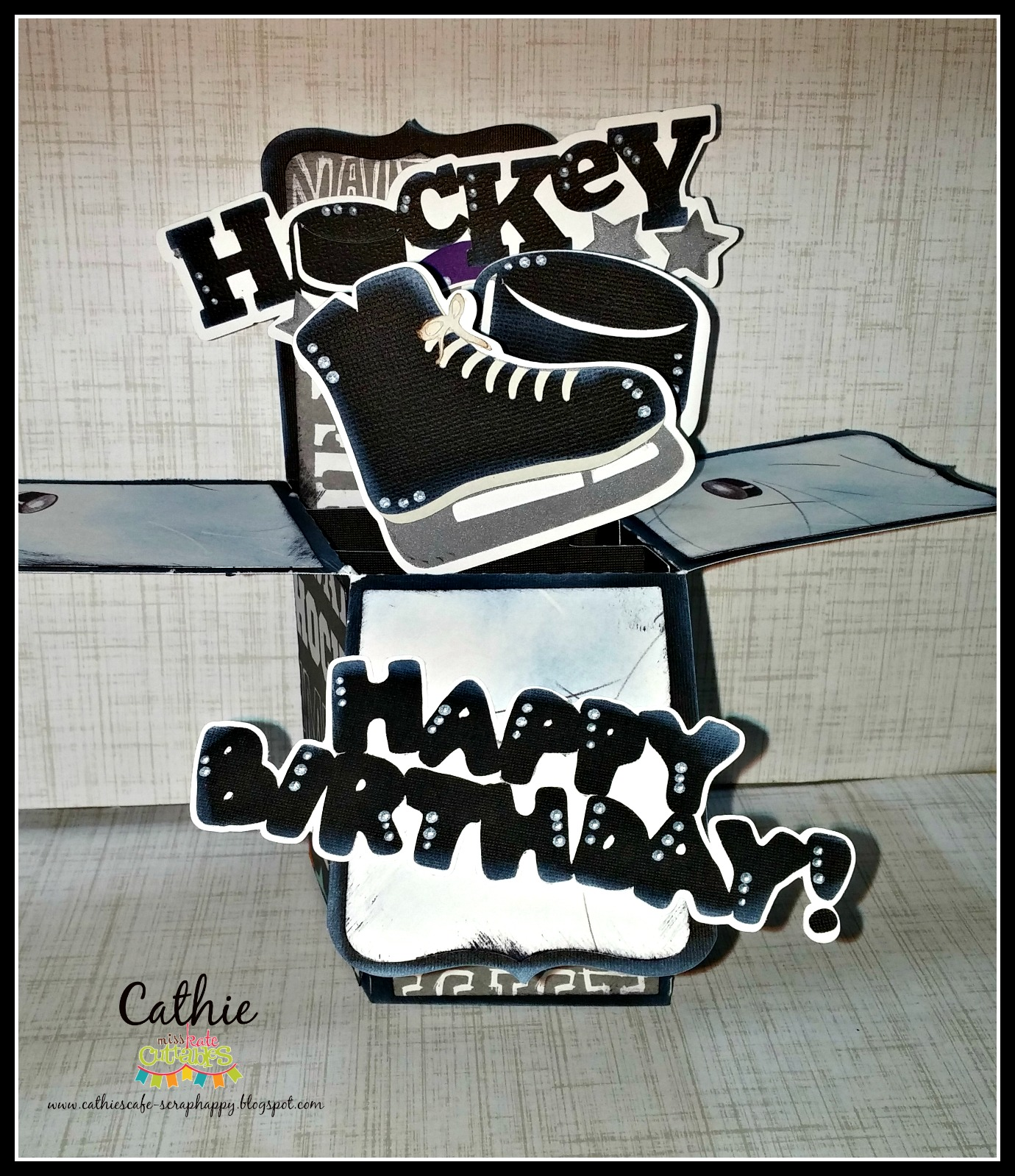 Miss Kate Cuttables: HAPPY BIRTHDAY HOCKEY BOX CARD