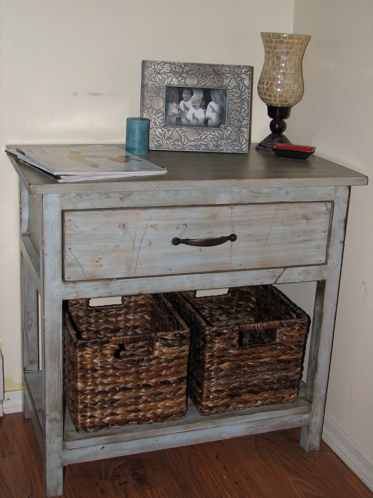 My Bedside Table: The Laundry Will Wait: My Farmhouse Bedside Table