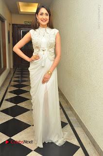 Actress Pragya Jaiswal Stills in Beautiful White Dress at turodu Audio Launch  0034.JPG