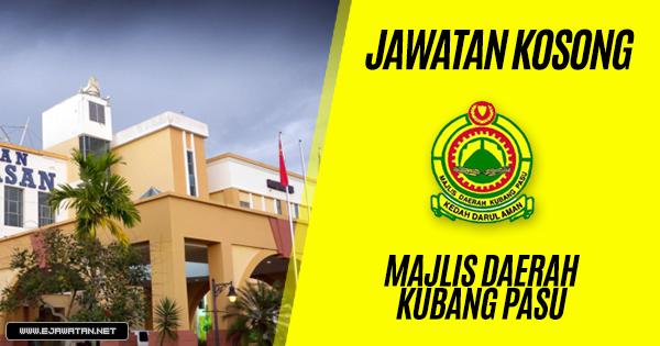 jawatan kosong Majlis Daerah Kubang Pasu 2019