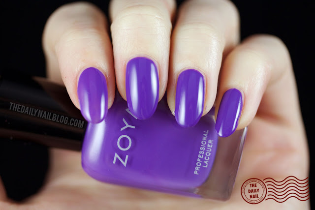 Zoya Island Fun Swatch, Serenity, bright, creme, purple
