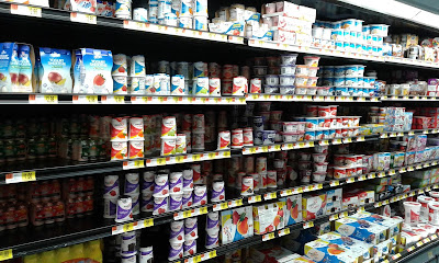 Opções de iogurtes no Walmart