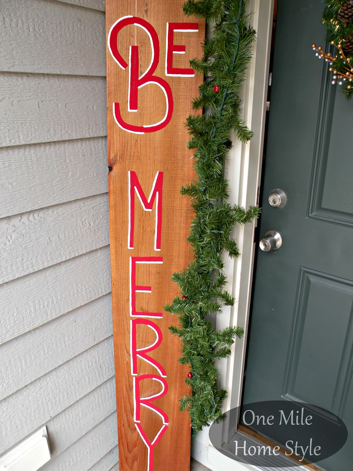 Be Merry Outdoor Christmas Sign