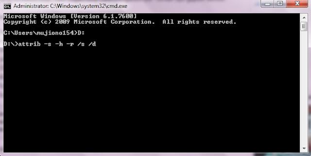 Cara Menghapus Virus Shortcut Dengan Perintah CMD (Command Prompt),cara menghapus virus komputer, cara memindai virus komputer, cara menghindari virus pada komputer, cara mudah menghilangkan virus pada komputer