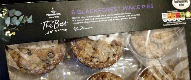 A box of 6 Black forest mince pies