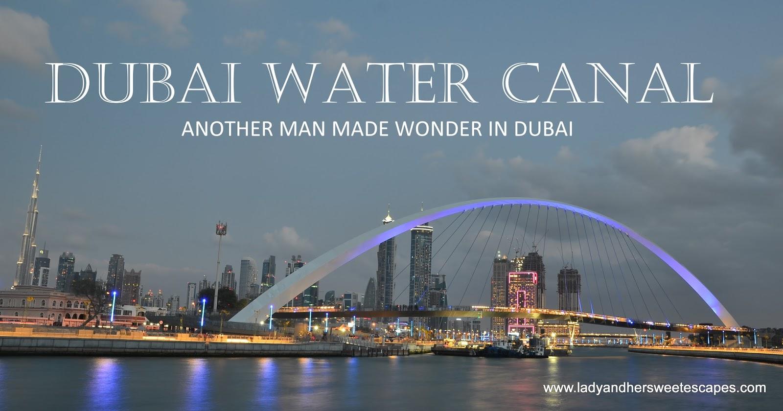 Burj Khalifa Inside Sunset Stroll Along Dubai Water Canal Lady Amp Her Sweet