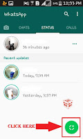 how to change status in whatsapp  android