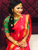 Telugu Actress Shruti Reddy Latest Poshoot Gallery in Red Silk Saree  0010.jpg