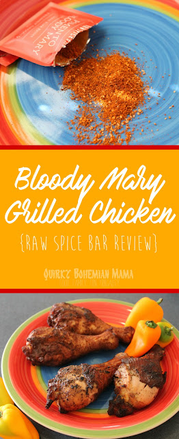 Pimento Bloody Mary Grilled Chicken {Raw Spice Bar Review} Unique recipe. Unique spice blend.