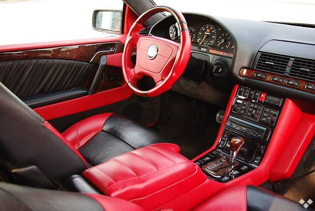 red black interior