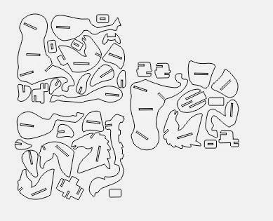 Puzzle 3d caballo en mdf y trupan y base para tablets - Marqueteria para ninos ...
