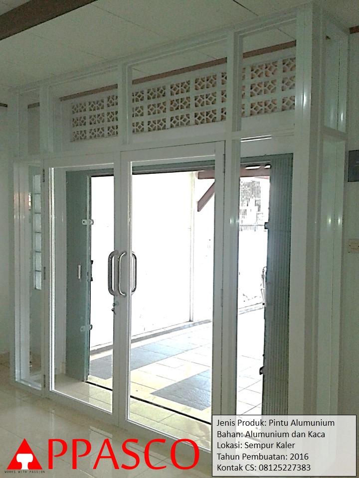 Pintu Alumunium dan Kaca di Sempur