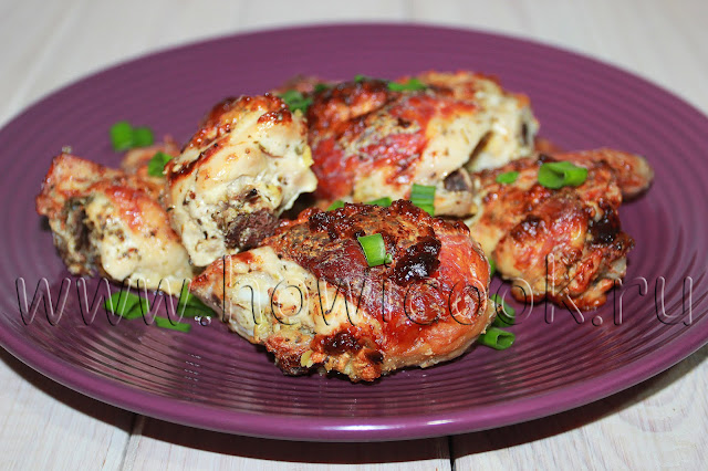рецепт курицы, запеченной в сметане с прованскими травами