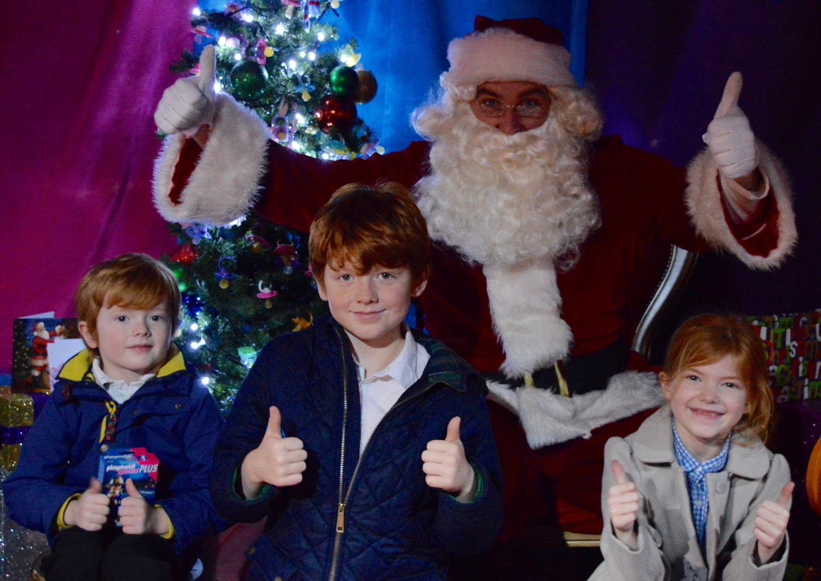 Visiting the FREE Santa's Grotto at intu Metrocentre | All You Need to Know including queue times, when's best to visit, your Playmobil Gift and photographs of Santa Claus - Photo with Santa