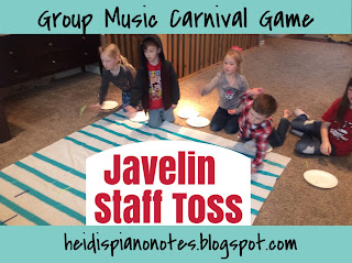 Group Music Carnival Game Javelin Staff Toss