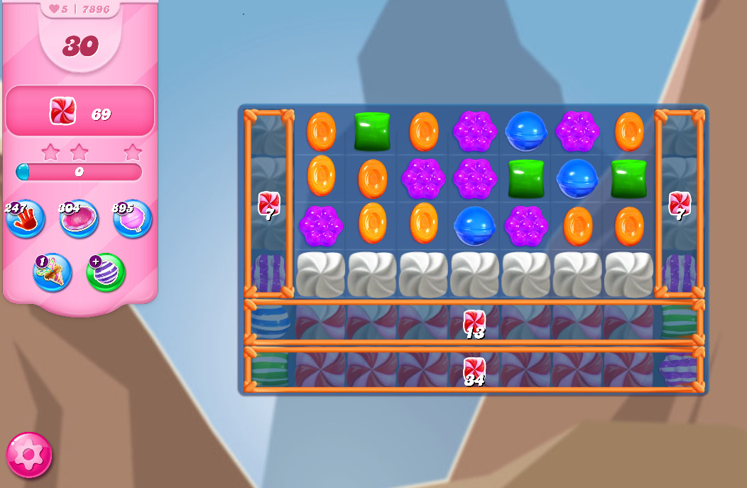Candy Crush Saga level 7896