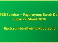 Pegawai Non PNS - BPCB Sumbar sd 22 Maret 2018