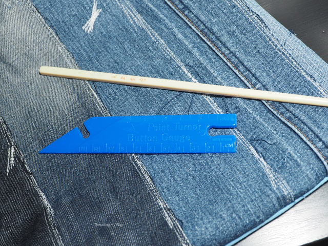 Most used sewing tools - point turner for making corners - chopstick ~ Threading My Way