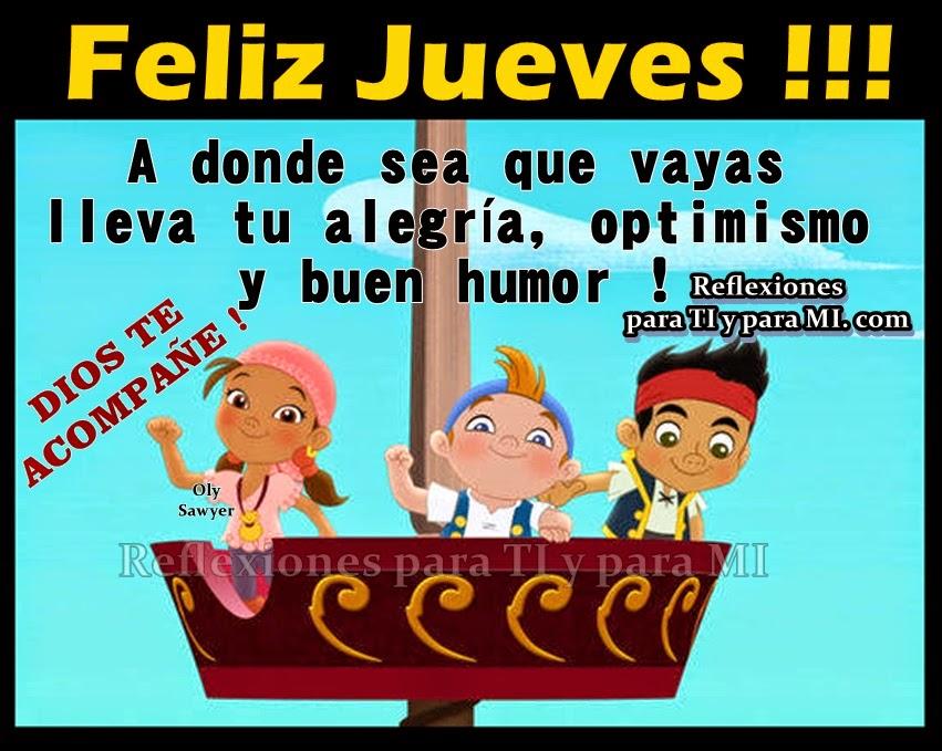 A donde sea que vayas lleva tu alegría, optimismo y buen humor !