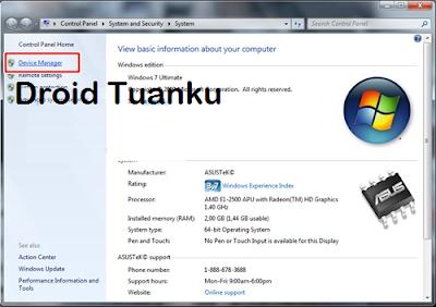 Cara Install Intel USB Driver di Asus Zenfone