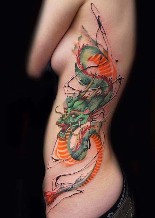 green dragon tattoos yeşil ejderha dövmeleri