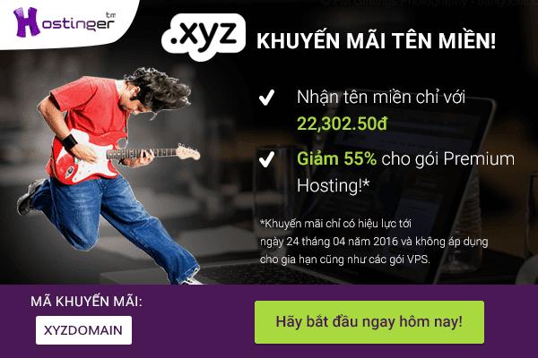 Tên miền .XYZ chỉ với 22k và ưu đãi 55% cho gói Hosting Premium!