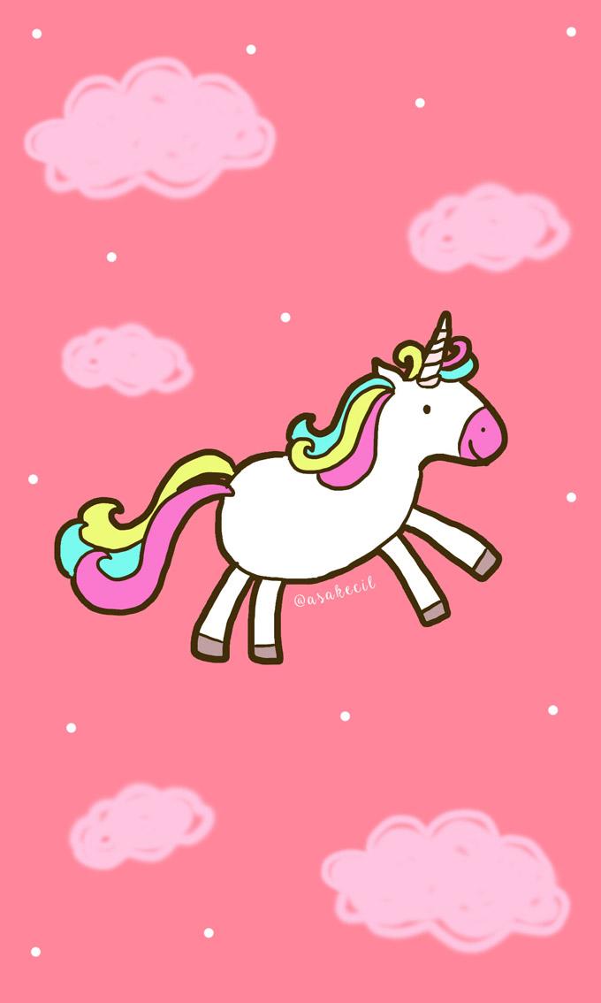 Rainbow Unicorn Gambar Wallpaper Unicorn Pink Lucu ...
