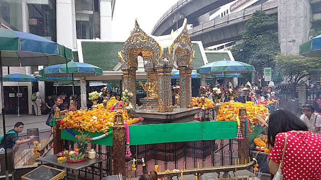 Four Face Buddha In Bangkok At Erawan Shrine