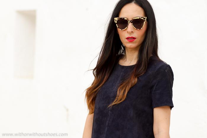 Influencer blogger de moda y belleza con ideas de outfits para salir  por la noche el fin de semana