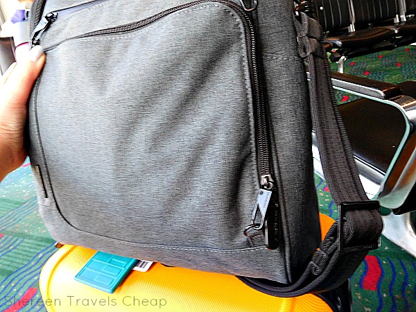 6daa2edfec The new security zippers on Travelon s bag are awesome. They are unassuming  and very classic looking. They clip and unclip easily to small d-rings