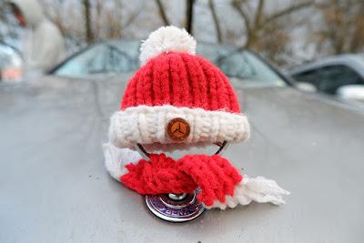 Mercedes zimą