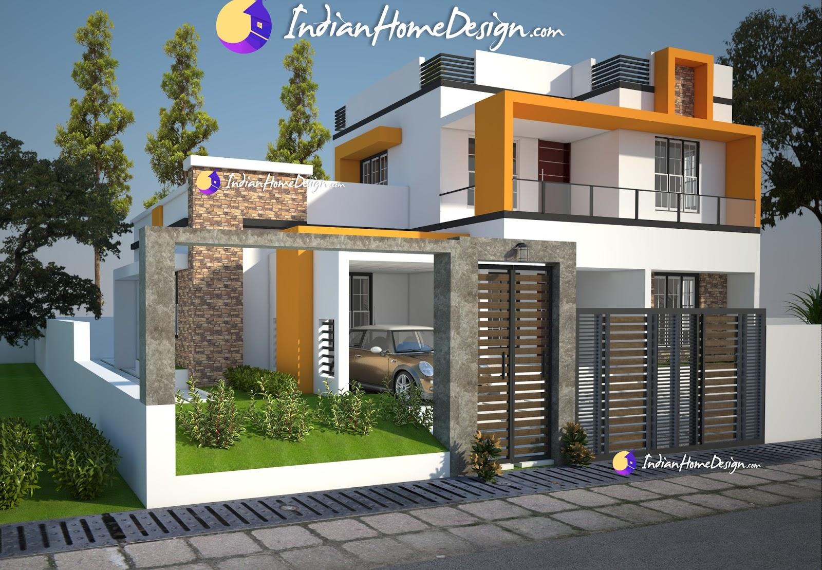 attractive exterior designs, Exterior design, 1800 sqft home designs, contemporary home design,