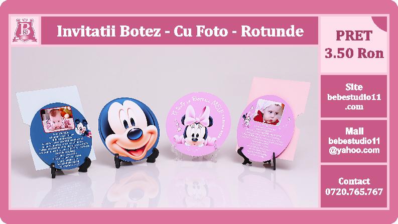 Bebestudio11com Invitatii Nunta Si Botez Invitatii Botez Rotunde