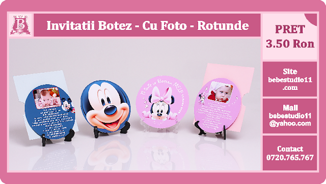 invitatii botez rotunde