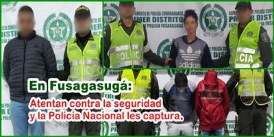 Atentan contra la seguridad y la Policía Nacional les captura.