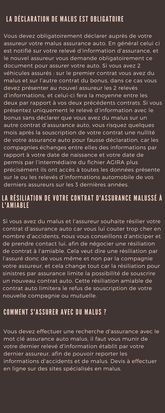 Assurance automobile malus 2