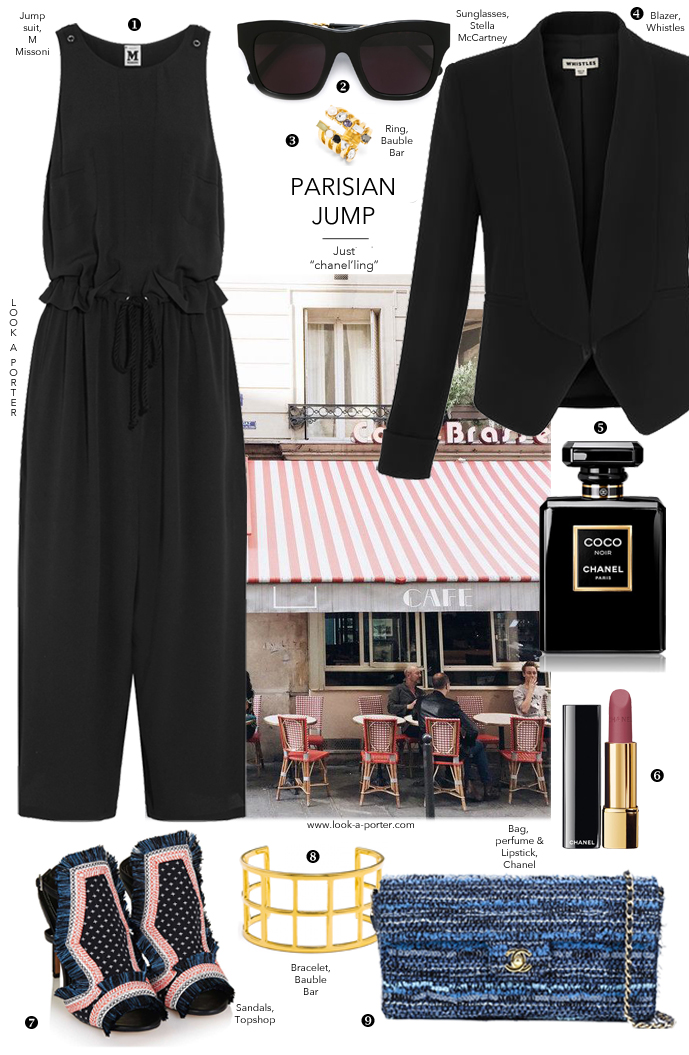 How to wear a jumpsuit, Parisian style... Via www.look-a-porter.com style & fashion blog / outfit ideas daily